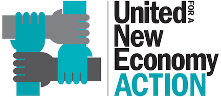 United For A New Economy Action