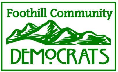 Foothill Community Democrats (CA) - Federal